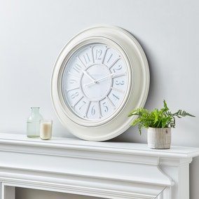 Classic 60cm Wall Clock Cream