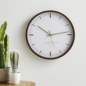 Churchgate 36cm Anya Wall Clock Brown