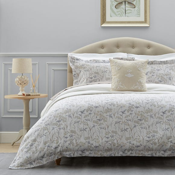 Dorma Cheddleton 100% Cotton Reversible Duvet Cover  undefined