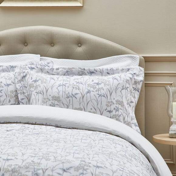 Dorma Cheddleton Oxford Pillowcase Pair Grey