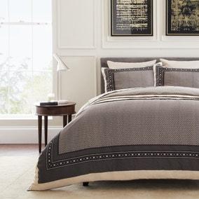 Dorma Abbotswood 100% Cotton Natural Duvet Cover and Pillowcase Set