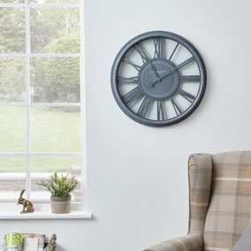 Churchgate 51cm Numeral Wall Clock Grey