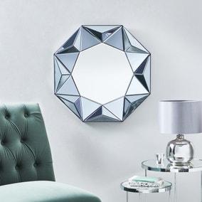 3D Geo Wall Mirror 60cm Smoked