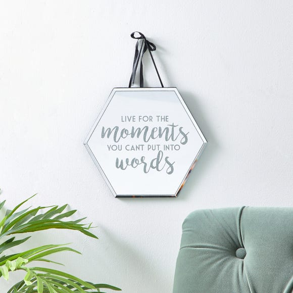 Live For the Moments Plaque Silver