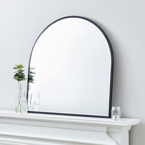 Apartment Arch Wall Mirror 70x70cm Black