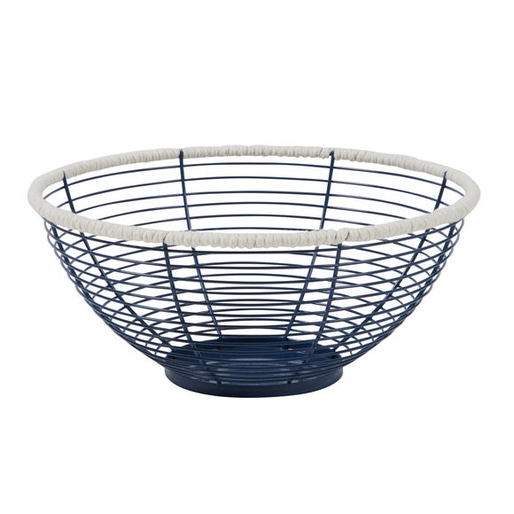 Wire Fruit Bowl Blue