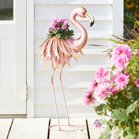 Glazed Flamingo Planter