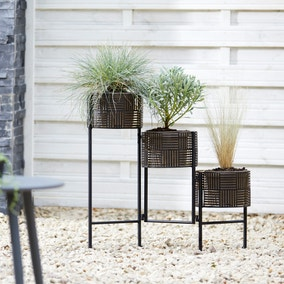 Plant Pot Stand Trio