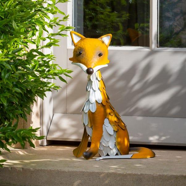 Metal Fox Ornament Multi Coloured