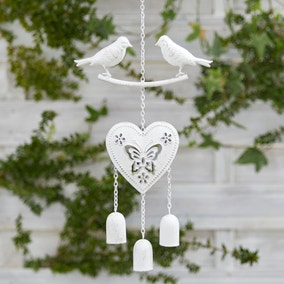 White Birds Wind Chime
