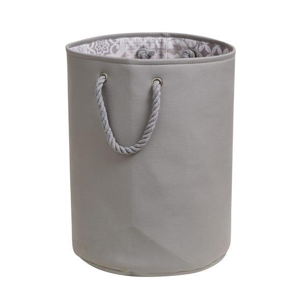 Geo Tile Grey Laundry Bag Grey