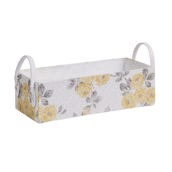 Ashbourne Floral Storage Tray Yellow