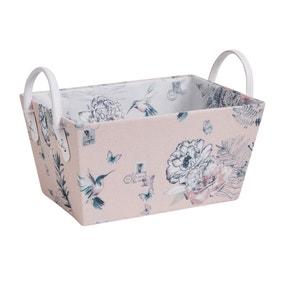Heavenly Hummingbird Blush Storage Basket