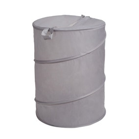 Essentials Grey Pop Up Laundry Basket