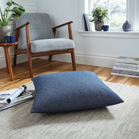 Easton Dobby Navy Floor Cushion