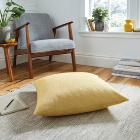 Easton Dobby Ochre Floor Cushion