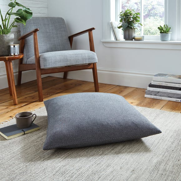 Easton Dobby Charcoal Floor Cushion