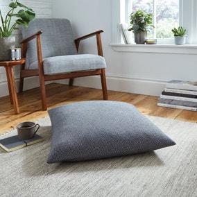 Easton Dobby Charcoal Floor Cushion