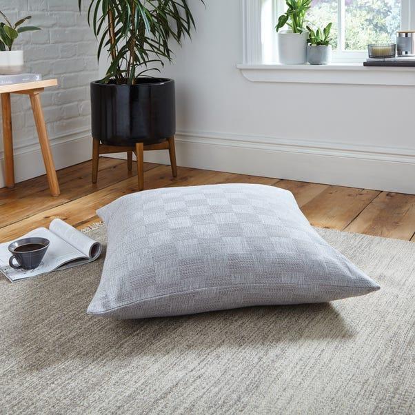 Parker Weave Floor Cushion Grey