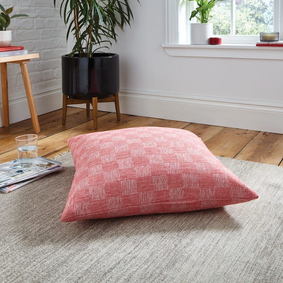 Parker Weave Floor Cushion Red