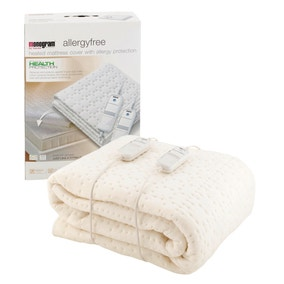 Monogram by Beurer Anti Allergy Dual Control Electric Blanket