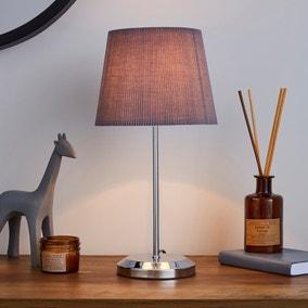 Jali Charcoal Table Lamp