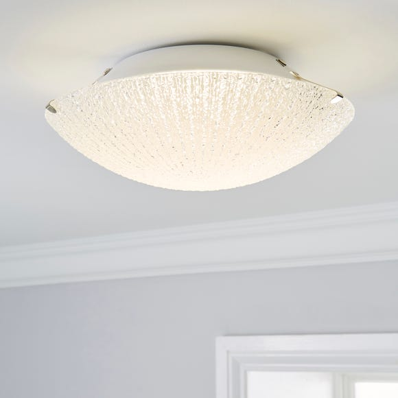 Rocco 1 Light LED Glass Flush Ceiling Fitting Clear