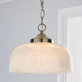 Letoro 1 Light Pendant Pressed Glass Ceiling Fitting