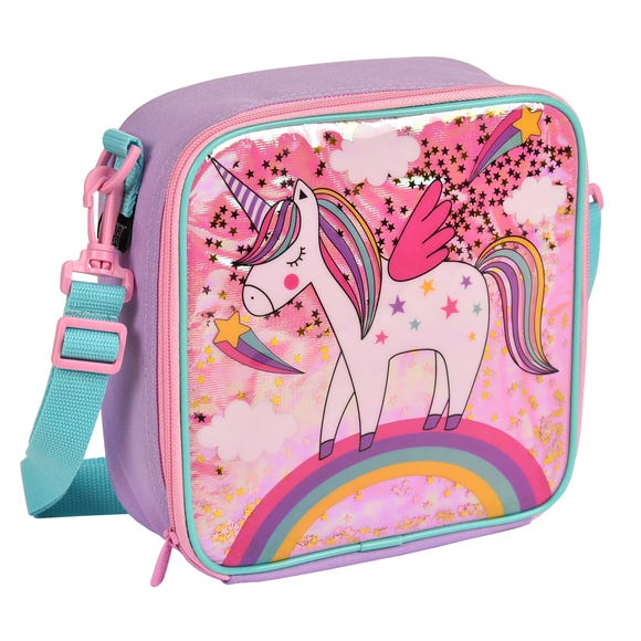 Kids Polar Gear Unicorn Rainbow Lunch Bag Pink