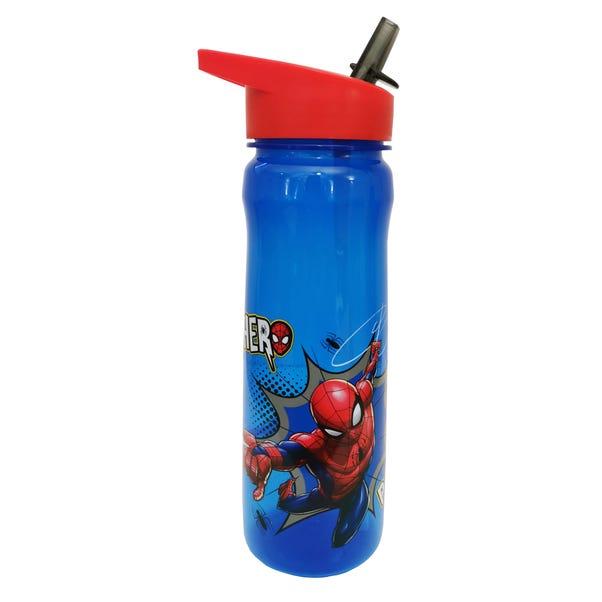 Disney Marvel Spiderman 600ml Plastic Tracker Water Bottle Blue