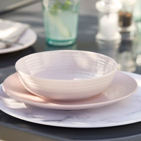 Churchgate Blush Pink Melamine Pasta Bowl
