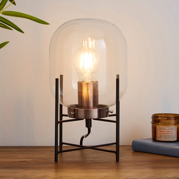 Dayo Jardinere Glass Table Lamp Black