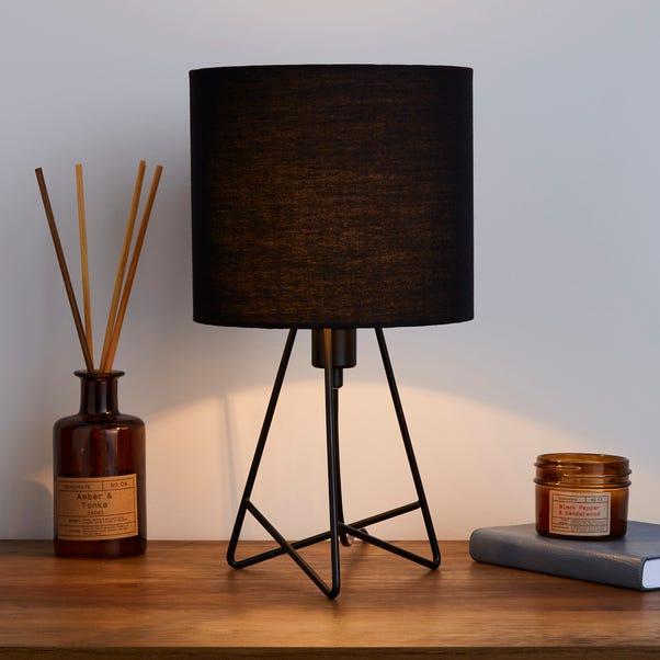 Mini Hester Black Table Lamp Black