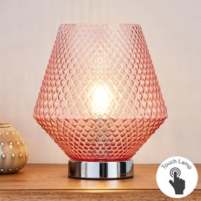 Miah Blush Touch Dimmable Table Lamp