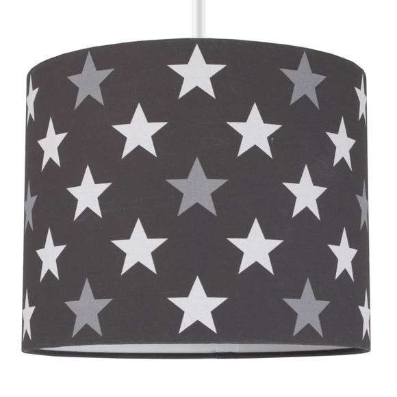 Black Stars Drum Light Shade Black