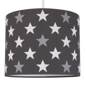 Black Stars Drum Light Shade