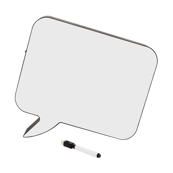 Light Up Speech Bubble Whiteboard Lamp White