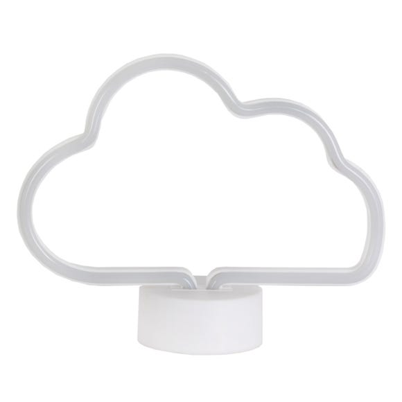 Neon White Cloud LED Lamp White