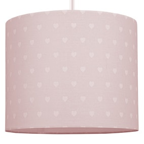 Beautiful Basics Pink Hearts Drum Light Shade