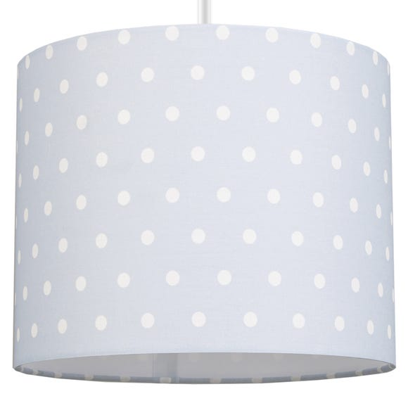 Beautiful Basics Blue Polka Dot Drum Light Shade Blue