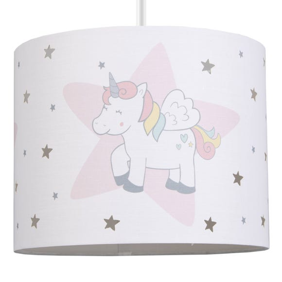 Unicorn Dreams Drum Light Shade MultiColoured