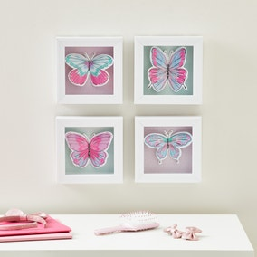 Pack of 4 Butterfly Wall Art