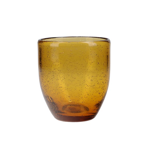 Zen Amber Tumbler Glass Orange