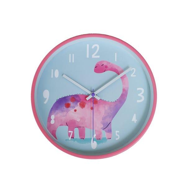 Pink Dinosaur Clock Pink
