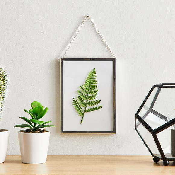 "Silver Chain Hanging Frame 7"" x 5"" (18cm x 12cm) Silver"