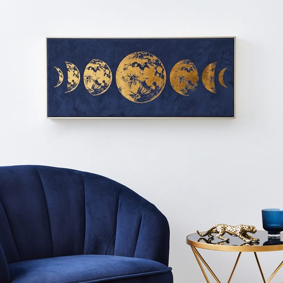 Suede Moon Boxed Canvas Blue