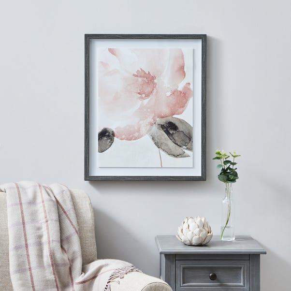 Pink Floral Framed Print MultiColoured