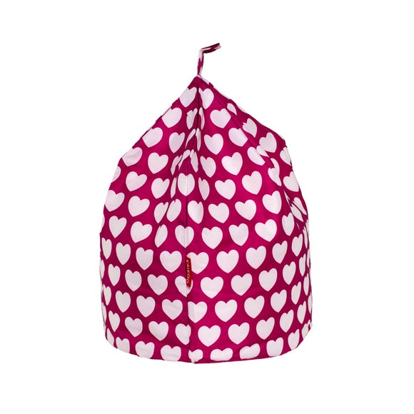 Pink Hearts Bean Bag