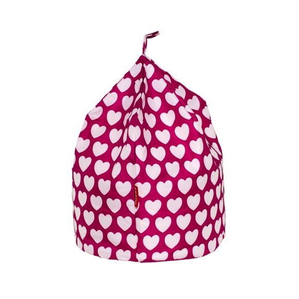Pink Hearts Bean Bag Blue