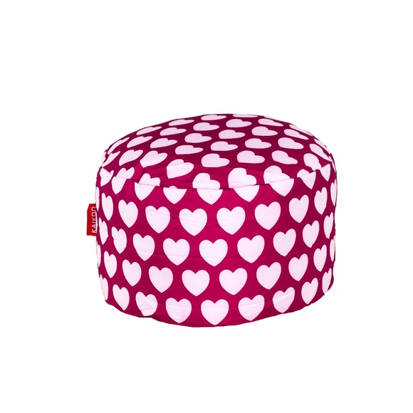 Pink Hearts Footstool